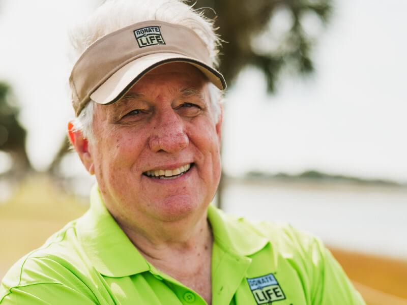 Gary Simmons, liver recipient, smiling.