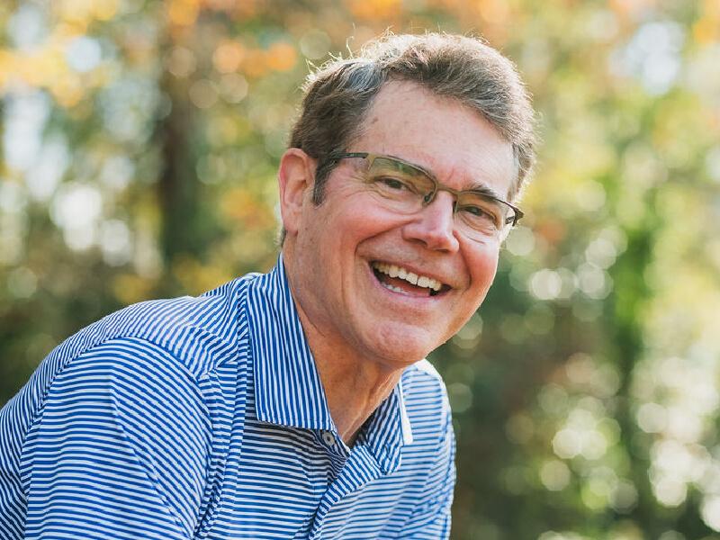 Pete Schwob, double lung recipient, smiling.
